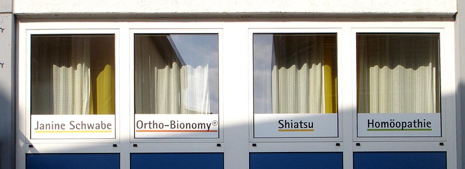 Folie, Beschriftung, Fenster