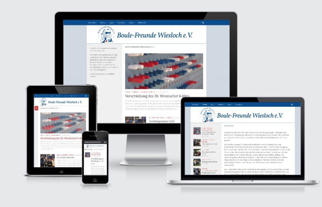 Homepage Internetseite responsive Boule Wiesloch webdesign