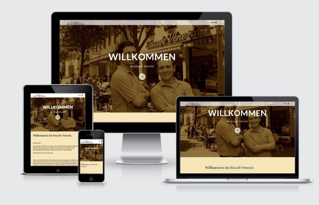 Homepage Eiscafe Venezia Wiesloch Webdesign