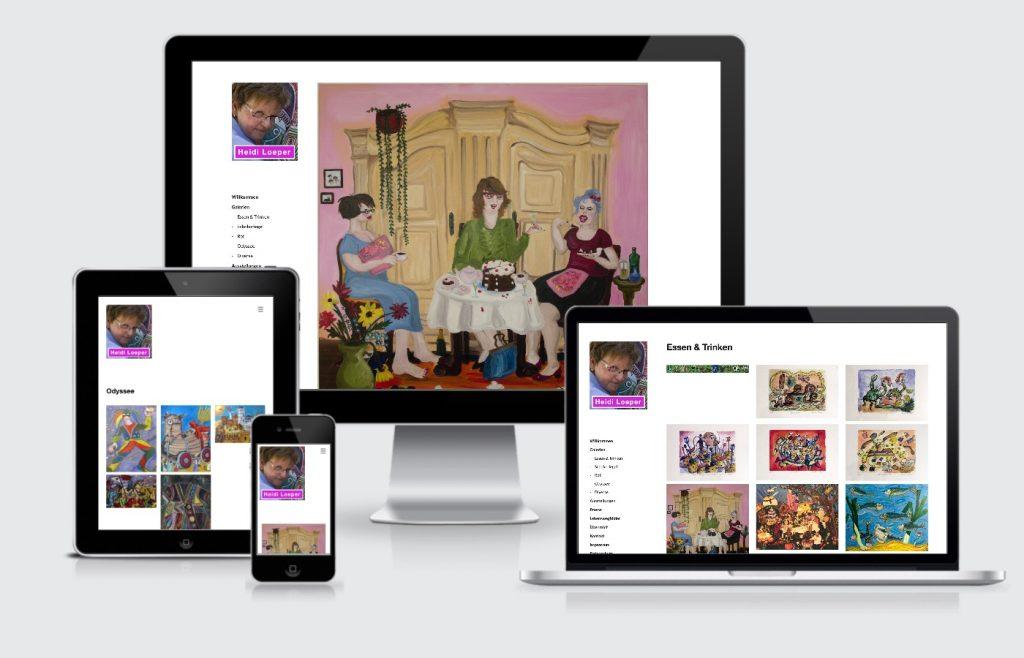 Homepage Internetseite Heidi Loeper Mannheim webdesign