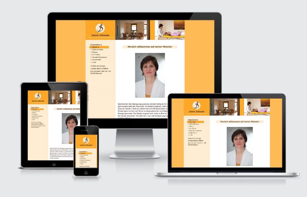 Internetseite Homepage Janine Schwabe Heilpraktikerin Wiesloch
