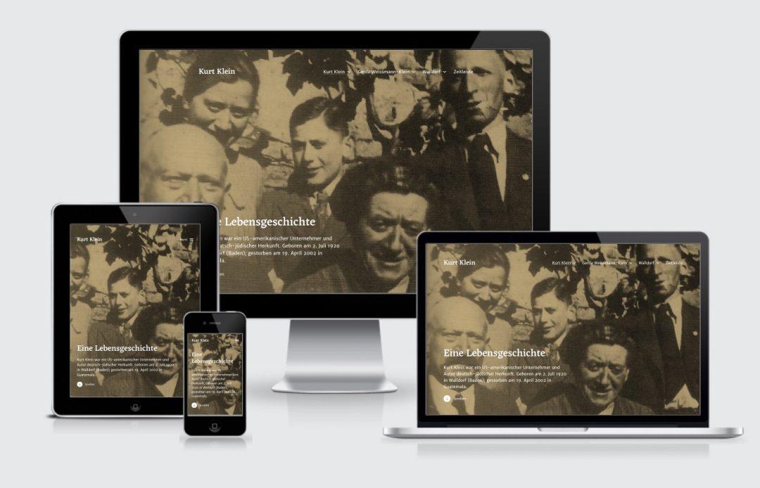 Homepage Internetseite Kurt Klein Walldorf Webdesign