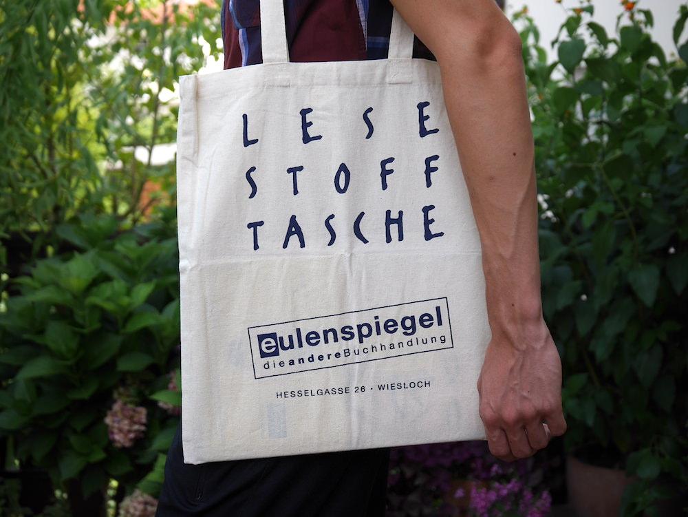 Stofftasche Werbeartikel Buchhandlung Eulenspiegel Wiesloch
