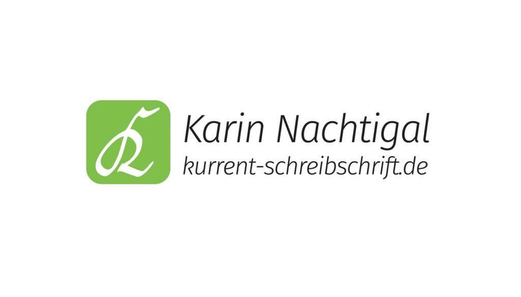 Logo Design Kurrent Schreibschrift Karin Nachtigal Wiesloch