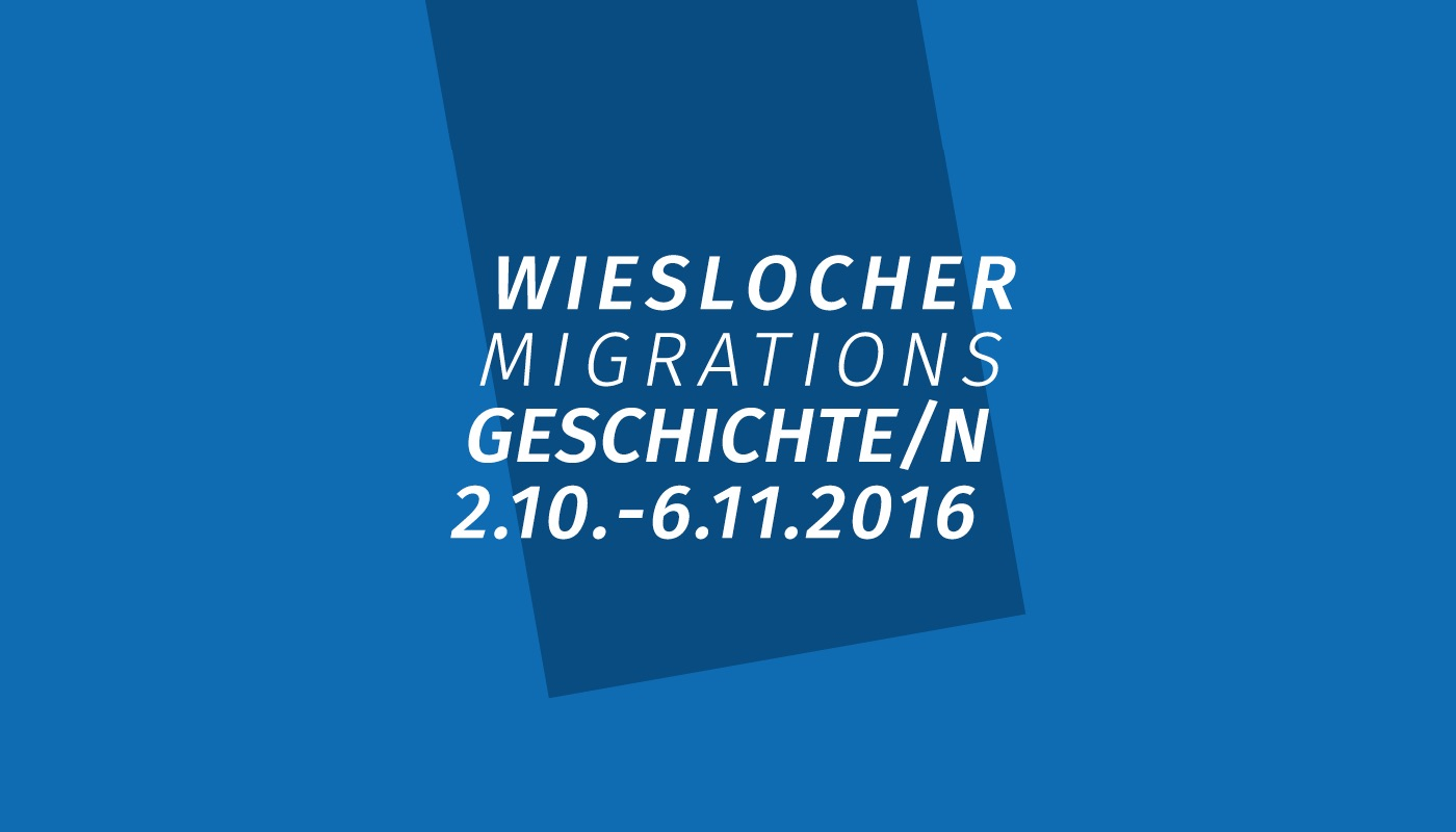 Logo Design Wieslocher Migrationsgeschichten
