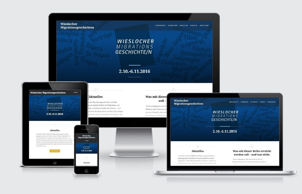 Internetauftritt Wieslocher Migrationsgeschichten Webdesign