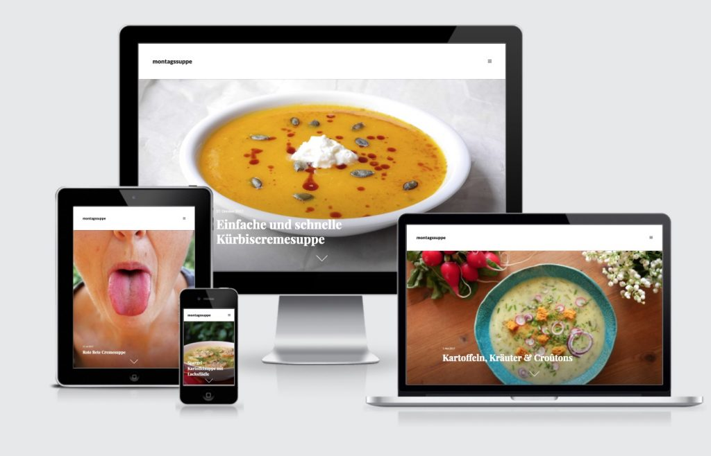 Internetseite Blog montagssuppe Rezepte