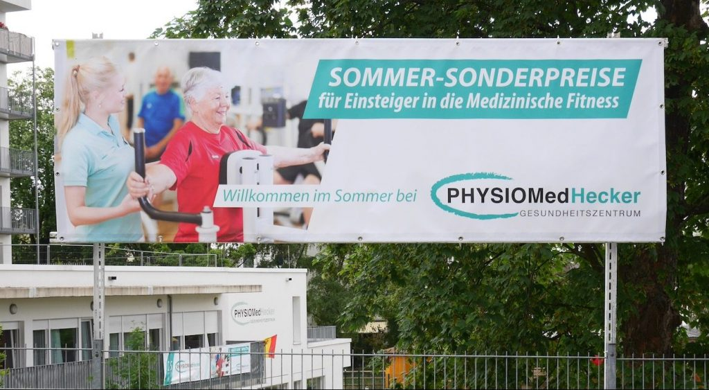 Plane physiomed Hecker Sommeraktion Werbung